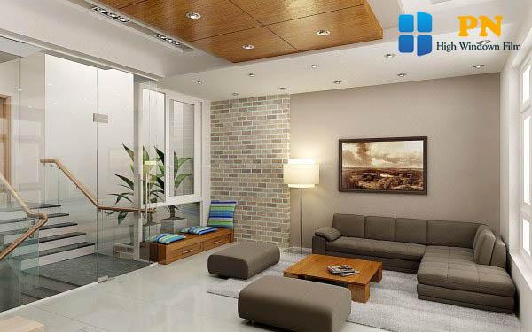 Đá ốp tường trang trí phòng khách