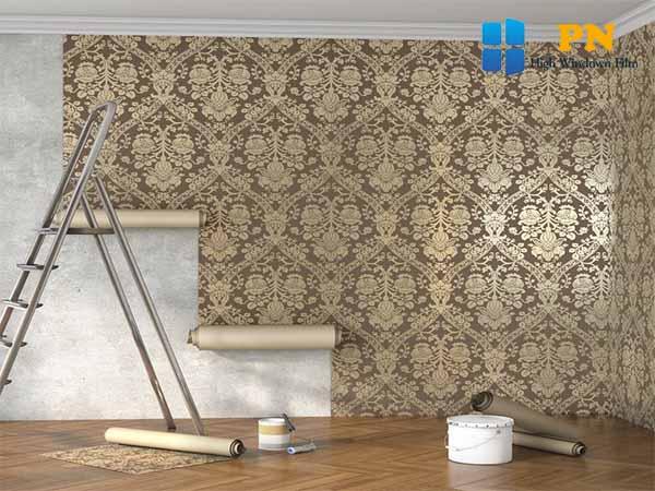Sử dụng giấy dán tường