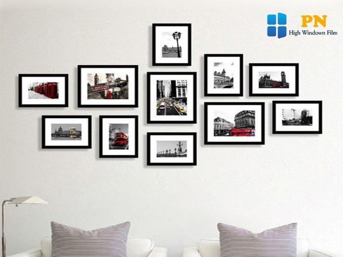 Sử dụng những khung ảnh treo tường