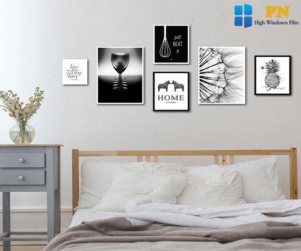 Trang trí phòng ngủ bằng khung ảnh
