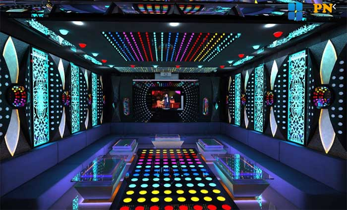 Trang trí phòng karaoke bằng giấy dán kính
