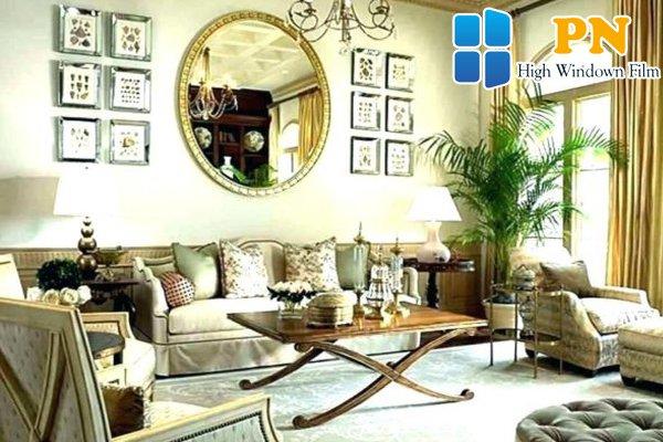 mẫu gương treo phòng khách