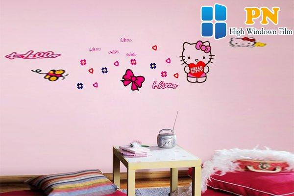 Đặc điểm giấy dán tường hello kitty
