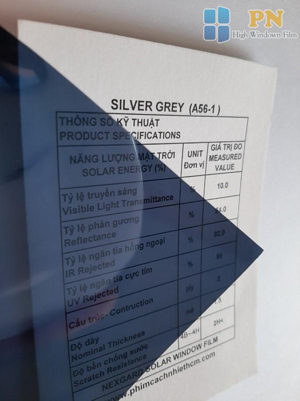 Phim cách nhiệt Silver Grey 1