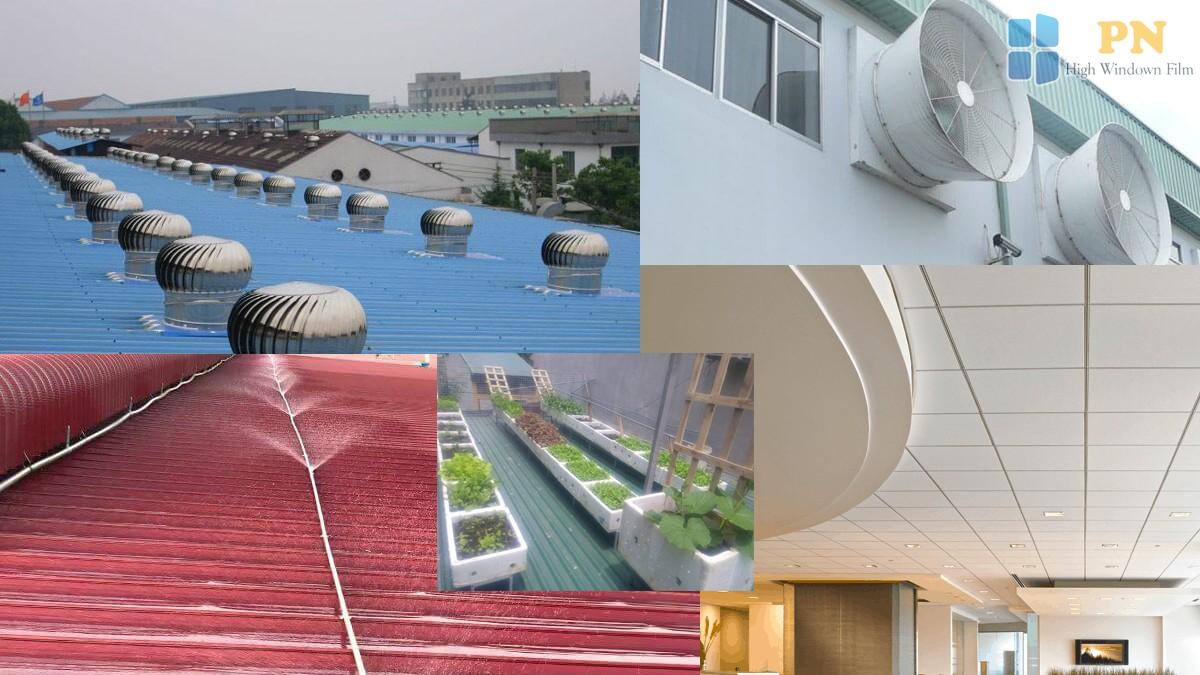 cách chống nóng cho mái tôn