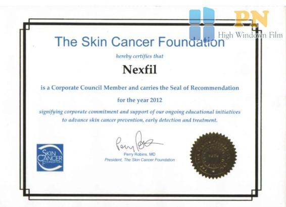 Chứng nhận chống ung thư da