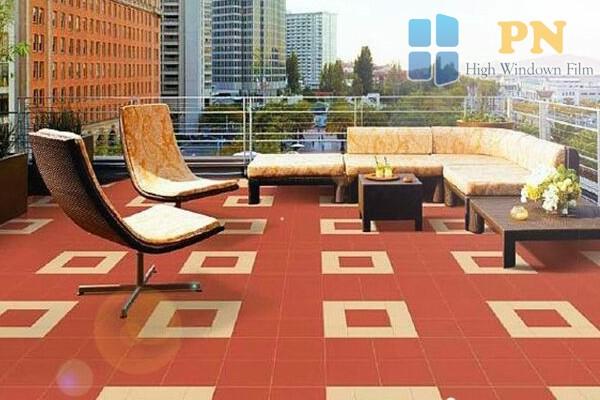 Gạch chống nóng dùng lát sân thượng