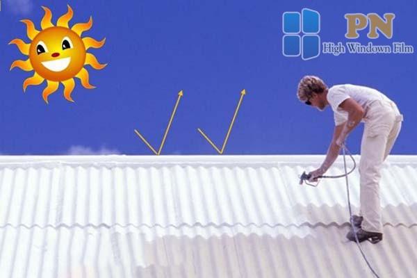 Phun sơn cách nhiệt chống nóng cho mái tôn
