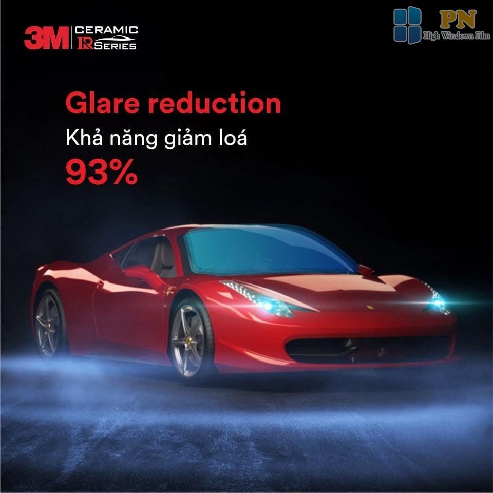 Khả năng giảm loá của Phim cách nhiệt 3M IR Series đến 93%